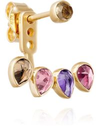 Perle de Lune - Yellow Gold Ear Stud With Jacket Mosaik - Lyst