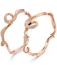 Fei Liu - 18kt Rose Gold Plated Serenity Large Hoop Earrings - Lyst