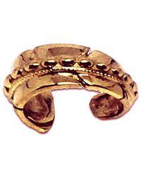 Katherine LeGrand Custom Goldsmith - Rose Gold Feather Beaded Ear Cuff | Katherine Legrand - Lyst