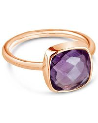 Lily Blanche - Purple Amethyst Cocktail Ring - Lyst