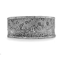 House of Alaia - Tree Of Life Cuff Bracelet In Silver - Lyst