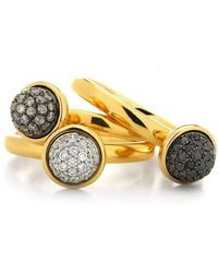 Syna - Set Of Stacking Diamond Baubles Rings - Lyst