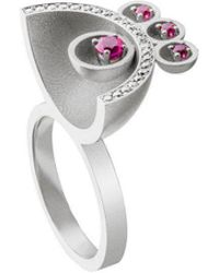 Jaime Moreno Designer Jewelry - White Gold, Diamodn & Ruby Family Ring | Jaime Moreno - Lyst