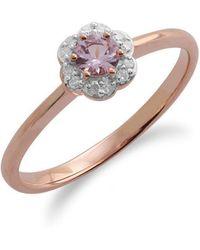 Gemondo Jewellery - Morganite And Diamond Floral Ring - Lyst