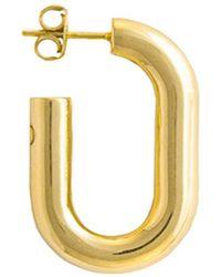 Glenda López - 18kt Gold Dipped Xl Golden Link Earring - Lyst