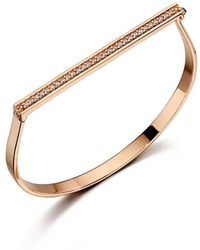 Fiorelli | Rose Gold Pave Hinged Bangle | Lyst
