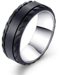 KAVALRI - Z-force Black Zirconium Ring - Lyst