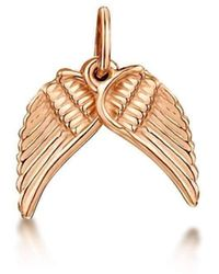 Becky Rowe - Small Rose Gold Angel Wings - Lyst