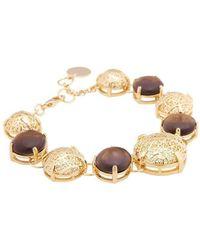 Amazona Secrets - 18kt Gold Savannah Leaf Bracelet - Lyst