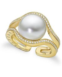 BELPEARL - A Pearl Legacy - Kobe South Sea Ring With Diamonds - Lyst