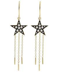 London Road Jewellery - Portobello Yellow Gold Rose Cut Diamond Star Drop Starry Night Earrings - Lyst
