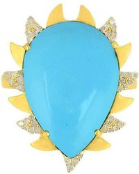 Meghna Jewels - Claw Ring Turquoise - Lyst