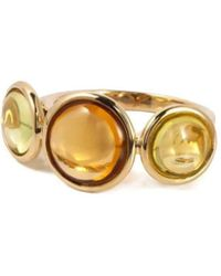 Goshwara Mischief Lemon Quartz And Citrine Three Stone Ring - 6.5 DQaBmgsuW