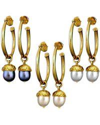 Amanda Cox Jewellery - 18kt Gold Vermeil Large Acorn Hoop Earrings - Lyst