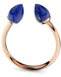 MARCELLO RICCIO - Rose Gold & Lapis Lazuli Ring - Lyst