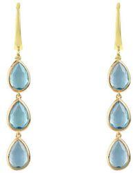 LÁTELITA London - Sorrento Triple Drop Earrings Gold Blue Topaz - Lyst