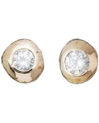 Kate Chell Jewellery - Gold Nugget Diamond Earrings - Lyst
