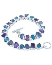 Reeves and Reeves - Rough Tanzanite, Amethyst And Apatite Bracelet - Lyst