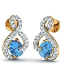 Diamoire Jewels Butterfly Aquamarine and Diamond Earrings in 18kt Yellow Gold g0dWjGeM