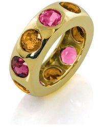 Goshwara Gossip Rubelite Oval Stackable Rings with Diamonds - 6.5 (M) VAIGprrkV4