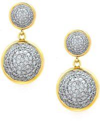 Syna - 18kt Diamond Bauble Earrings - Lyst