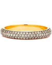Syna - 18kt Champagne Diamond Pave Band - Lyst