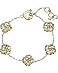Molly B Couture - 9kt Gold Multi Love Knot Bracelet - Lyst