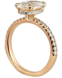 Cynthia Britt - Oval Engagement Ring With Diamond Collar - Lyst