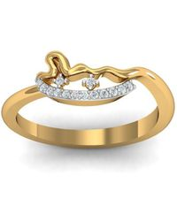 Diamoire Jewels - 18kt Yellow Gold Pave 0.09ct Diamond Infinity Ring - Lyst