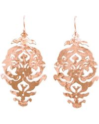 Murkani Jewellery - Empire Rose Gold Drop Earrings - Lyst