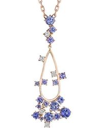 Madstone Design - Melting Ice Tanzanite And Diamond Pendant - Lyst
