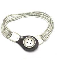 Annika Rutlin - Button Bracelet Triple Chain - Lyst