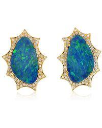 Socheec - Majestic Opal Stud Earring - Lyst