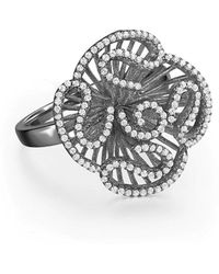 Fei Liu - Cascade Stud Ring In Black Rhodium Plate - Lyst