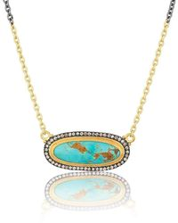 "Lika Behar Collection - Gold And Oxidised Silver ""my World"" Necklace - Lyst"