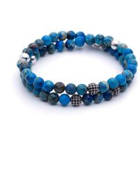 Atolyestone London - Double Beaded Bracelet - Lyst