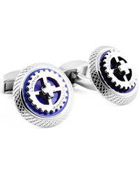 Tateossian - Sterling Silver Gear Ufo Cufflinks - Lyst