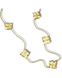 Hazel NY - Moroc Square Medallion Necklace - Lyst