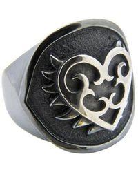 Luke Goldsmith - Silver Mens Identity Romantic Ring - Lyst