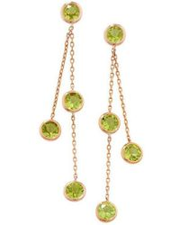London Road Jewellery - Pimlico Rose Gold Peridot Drop Raindrop Earrings - Lyst