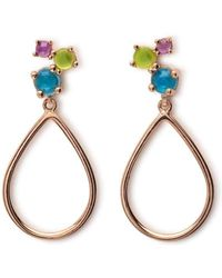 Maviada - Antibes Cascade Vermeil Rose Gold Earrings - Lyst