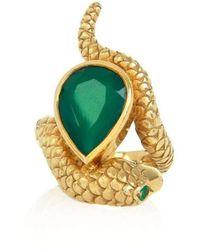 Alexandra Alberta - Arizona Green Chalcedony Ring - Lyst