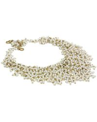 Elisa Ilana Jewelry - Yellow Gold, Pearl & Quartz Necklace | - Lyst