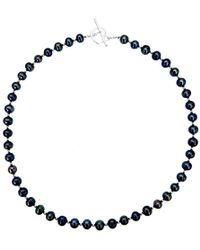 Lily Blanche - Sterling Pearl Necklace - Midnight - Lyst