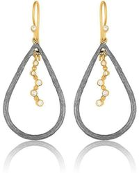 """Lika Behar Collection - Gold And Oxidised Silver """"jen"""" Drop Earrings - Lyst"""