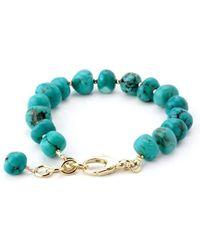 Elisa Ilana Jewelry - Yellow Gold & Turquoise Lollies Bracelet | - Lyst