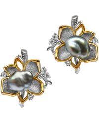 Chekotin Jewellery - Flower Eden Earrings - Lyst