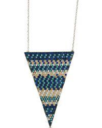 Cosanuova - Flat Multicolour Triangle Necklace - Lyst