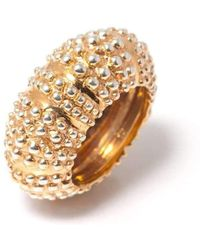 Flavie Michou - Gold Plated Oursin Ring - Lyst