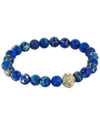 Atolyestone London - Solid Gold Leo Beaded Bracelet - Lyst